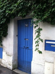 the blue door.