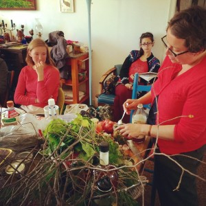 Recent class at Northeast School of Botanical Medicine, photo by Molly Hagan