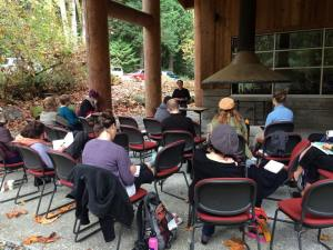 Radical body image class, Dandelion seed conference in Olympia WA, photo by Orna Izakson